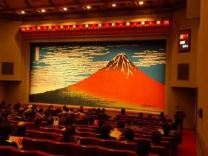 独演会が開催された国立演芸場の内部
