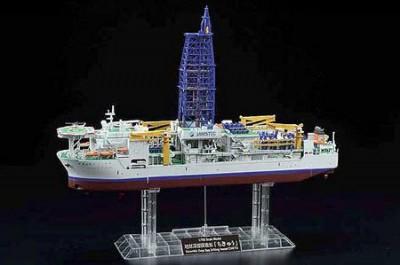 「地球深部探査船 ちきゅう」がプラモデル化