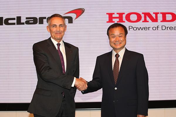McLaren Group Limited マーティン・ウィットマーシュCEO、Honda代表取締役社長 伊東孝紳