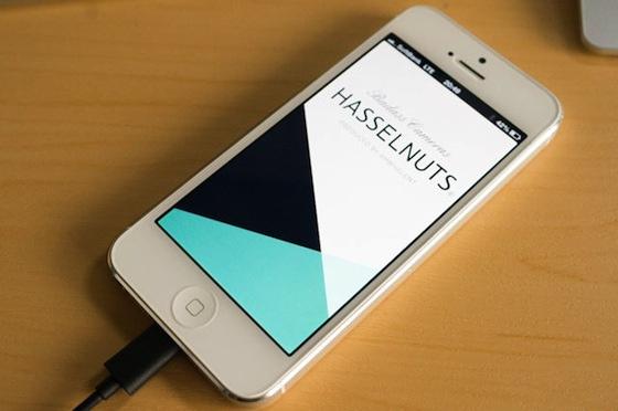 HASSELNUTS アプリ。iPhone4sと5にのみ対応。