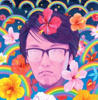 岡村靖幸のシングル『ビバナミダ』ジャケット。昭和40年生まれの現代美術家・会田 誠が描いている。