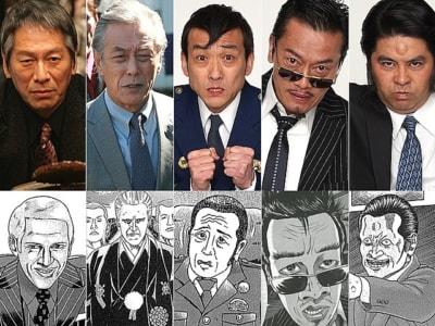 写真・中央が吹越満。豪華俳優陣のなかで吹越も、内面も外見も強烈な個性を放つキャラクターに扮している。