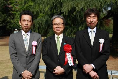 授賞式終了後に、北川環境副大臣とパチリ