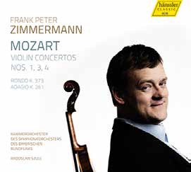 Mozart: Violin Concertos No.1, No.3, No.4, Rondo K.373, Adagio K.261 Frank Peter Zimmermann 、 Radoslaw Szulc 、 Bavarian Radio Chamber Orchestra