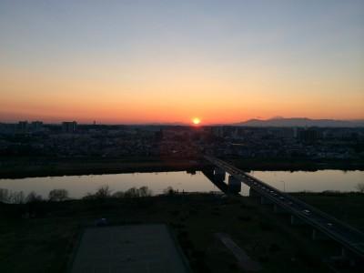 この夕陽を眺めたいた頃、僕はきっと39度を超える高熱を出していたと思われる