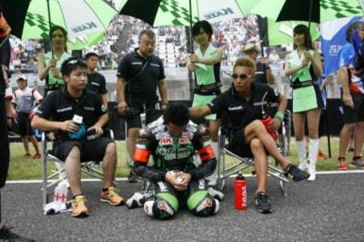 去年の『鈴鹿8耐』出走前のチームグリーンだ。