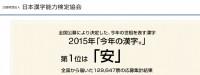 【2015年の漢字】昭和40年男はどんな一文字で締めくくる?