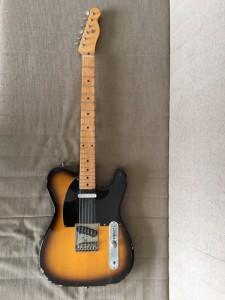 高校時代に買った。何本か所有するギターの中で、メインとなる大切な安物だ(笑)