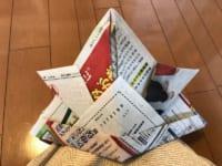 新聞紙で作った兜!!