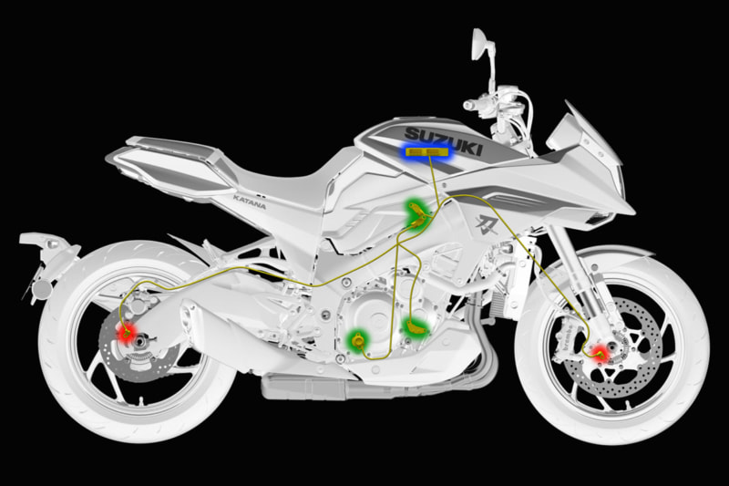 スズキ 新型KATANAの3モードトラクションコントロール